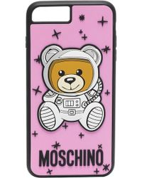 Moschino - Pink Teddy Printed Iphone 8 Plus Case - Lyst