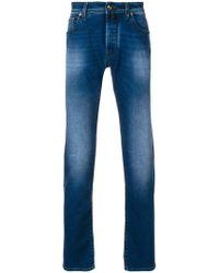Jacob Cohen - Washed Effect Jeans - Lyst