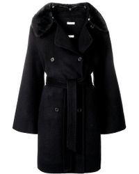 P.A.R.O.S.H. - Belted Double-breasted Coat - Lyst