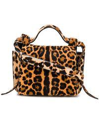 Elena Ghisellini - Leopard Angel Shoulder Bag - Lyst