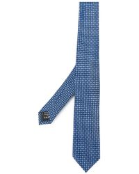 Ermenegildo Zegna - Woven Circle Print Tie - Lyst