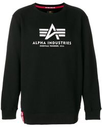 Alpha Industries - Logo Patch Sweater - Lyst