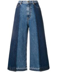 McQ - Wide-leg Cropped Jeans - Lyst