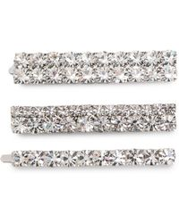 Alessandra Rich - Embellished Hair Clips - Lyst