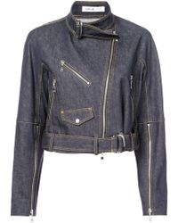 ADEAM - Cropped Biker Jacket - Lyst