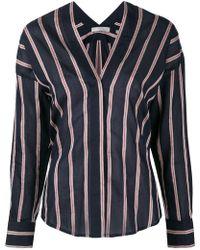 Vince - Plunge Neck Shirt - Lyst