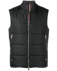 Low Brand - Quilted Zipped Jacket - Lyst