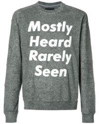 Mostly Heard Rarely Seen - Logo Print Sweatshirt - Lyst