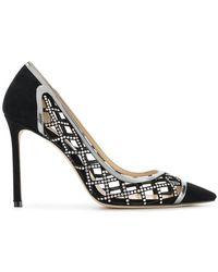 5a5f9fcb179 Lyst - Jimmy Choo Woman Lorna 85 Cutout Embellished Leather Ankle ...