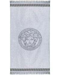 Versace - Medusa Logo Beach Towel - Lyst