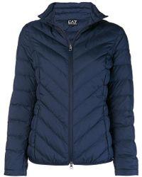 EA7 - Zipped Puffer Jacket - Lyst