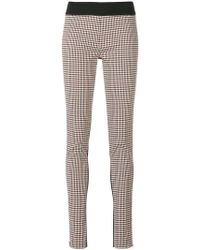 Stella McCartney - Plaid Front leggings - Lyst