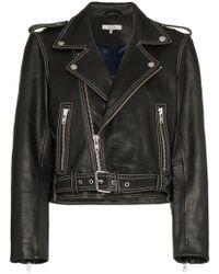 Ganni - Angela Leather Biker Jacket - Lyst