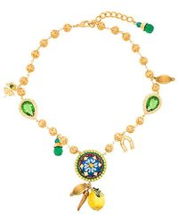 Dolce & Gabbana - Majolica Charm Necklace - Lyst