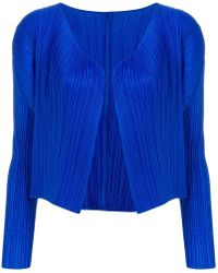 Pleats Please Issey Miyake - Pleated Cropped Jacket - Lyst