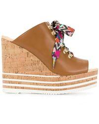 Hogan - Colour Lace Wedge Sandals - Lyst