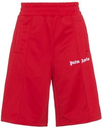 Palm Angels - Red Logo Track Shorts - Lyst