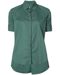 Adam Lippes - Flared Concealed Shirt - Lyst