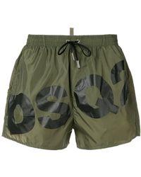 08747f9537 Lyst - DSquared² Dsq Logo Printed Swim Shorts in Orange for Men