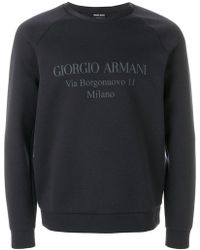 Giorgio Armani - Logo Detail Sweatshirt - Lyst