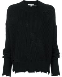 Helmut Lang - Distressed Ribbed Jumper - Lyst
