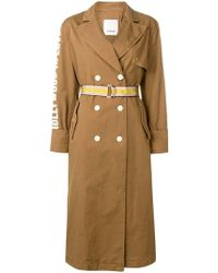 Pinko - Belted Trench Coat - Lyst