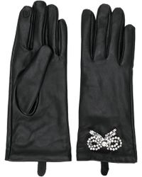 Twin Set - Embellished Leather Gloves - Lyst