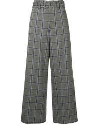 G.v.g.v - Plaid Wide Leg Trousers - Lyst