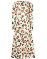 Dalood   Floral Print Dress   Lyst