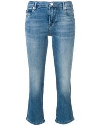 Love Moschino - Slim Cropped Jeans - Lyst