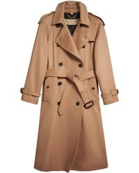 Burberry - Cashmere Trench Coat - Lyst