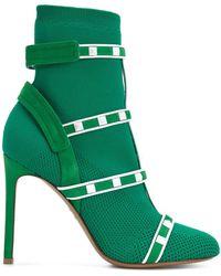 Valentino - Garavani Rockstud Bodytech Boots - Lyst