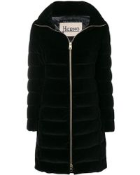 Herno - Padded High Neck Coat - Lyst