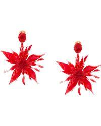 Oscar de la Renta - Starfish Flower Clip-on Earrings - Lyst