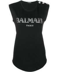 Balmain - Embellished Buttons Top - Lyst