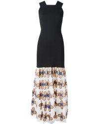 Christopher Kane - Bodycon Dress With Flower Skirt - Lyst
