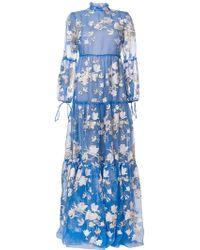 Erdem - Cassandra Embroidered Gown - Lyst