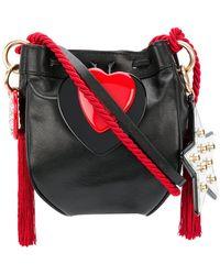 Philosophy Di Lorenzo Serafini - Heart Appliqué Shoulder Bag With Rope Tassel Strap - Lyst