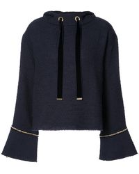 Mother Of Pearl - Gold Chain Trim Hoodie - Lyst