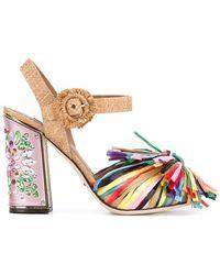 Dolce & Gabbana - Fringed Embellished Sandals - Lyst