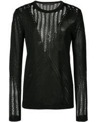 Sally Lapointe | Pointelle Knit Sweater | Lyst