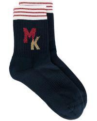 Maison Kitsuné - Intarsia Logo Socks - Lyst