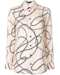 Alexander Wang - Barbed Wire Print Shirt - Lyst