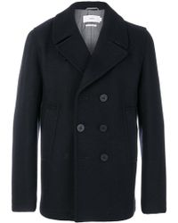 Closed - Double Breasted Peacoat - Lyst