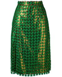Marco De Vincenzo - Sequin Skirt - Lyst