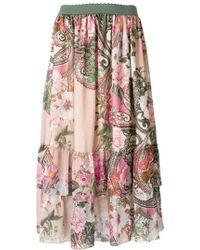Blugirl Blumarine - Floral Print Skirt - Lyst