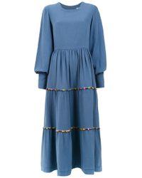 Olympiah - 'inca Pompom' Midi Dress - Lyst