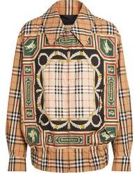 Burberry - Archive Scarf Print Harrington Jacket - Lyst