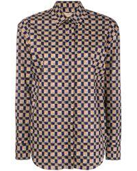 Burberry - Printed Button Down Shirt - Lyst