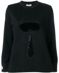 Fendi - Karlito-embroidered Sweatshirt - Lyst